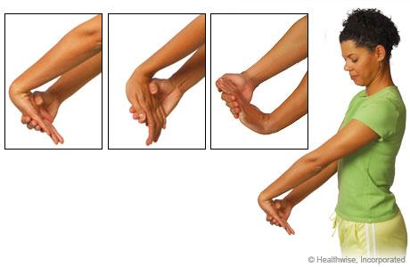 wrist pain stretch yoga